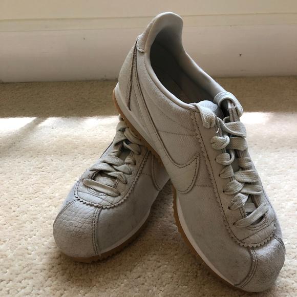 Nike Shoes - light gray nike cortez